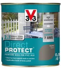 Peinture multi-supports direct protect satin 0.5L taupe - V33