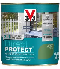 Peinture multi-supports direct protect satin 0.5L vétiver - V33