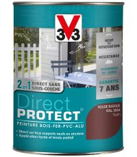 Peinture multi-supports direct protect satin 1.5L rouge basque - V33