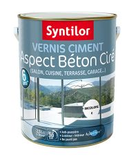 Vernis ciment aspect béton ciré 2.5L - SYNTILOR