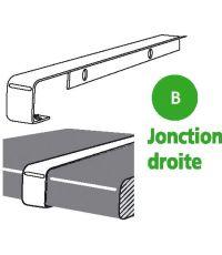 Profil aluminium de plan de travail jonction droite alu 2 bords droit 38 mm - SPTD