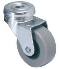 Roulette à œil pivotante 8mm caoutchouc gris non tâchant Ø42mm - Charge supportée 30 kg - CIME