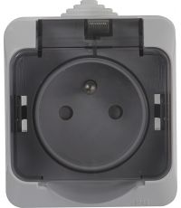 Prise 2P+T Cedar gris IP44 - SCHNEIDER ELECTRIC