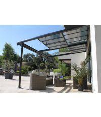 Tonnelle + Couverture polycarbonate Azura 320x400 - COULEURS DU MONDE