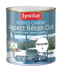 vernis ciment aspect beton cire 0.5l - SYNTILOR