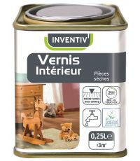 Vernis boiserie intérieure 0.25L teck - INVENTIV